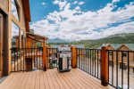 Continental Divide views from outdoor deck with gas grill.
