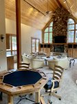 Great Room, Wet Bar, Fireplace, Game Area with Views of the River