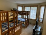 Bunk room with  Twin over Queen and Twin over Twin bunk beds
