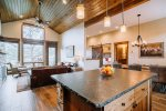 Luxury townhome with balcony, grill and Rocky Mountain views.