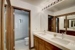 Master Bathroom w Double Vanity and Shower