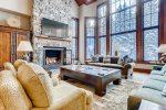 Living Room, Fire Place, Flat Screen TV - Adjustable TV Arm, Mountain Views