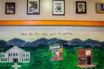 We commissioned Clemson students to paint this beautiful mural.