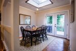 Our dining room has french doors that lead to the back deck...
