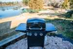 Outdoor gas grill.