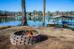 Firepit to relax by the lake and enjoy a fire.