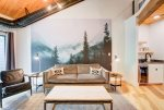 Wall Mural and Living Room