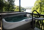 Hot Tub on Lower Level With View