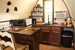 Kitchen with Countertop Convection Oven
