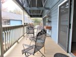 Great Sitting Porch and outdoor dining