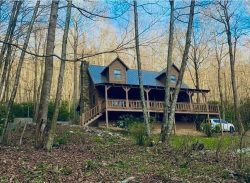 Cozy Cove Cabin | Inviting mountain cabin embraced by nature in the woods by a creek