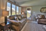 Enjoy Views of your private Aspen Grove and Mountain Range from your couch.