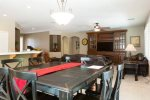 Full size open dining room comfortable for 8