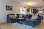 Full size kitchen with large island and dining area