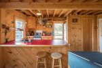 Cabin house kitchen.