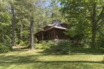 This six bedroom luxury lakefront cabin rental in Lovell is a great location for a lakefront vacation.