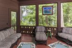 Screened in porch connected to the master bedroom.