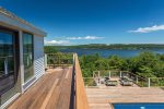 Second floor deck with views of the Kennebec River