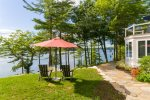 Beautiful Luxury rental in the mid coast of Maine has a deep water dock and stunning views.