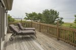 Beautiful deck from the living room with views of Parsons Beach.