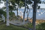 The hammock with views of Falmouth Harbor.