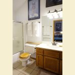Upstairs shared Bath Room with shower/tub