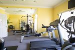 Gym located in the clubhouse