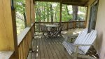 Furnished lower back deck