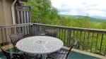 Back deck with outdoor furniture