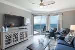 Living Room With Views of Beach & Gulf