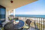 Enjoy Beach Front Dining on Your Balcony