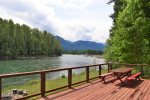 View of the Cowlitz river from the front deck.