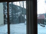 View outside from Sun Porch No Exit in Winter due to Avalanche Danger