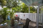 Back Patio is well suited for entertaining and dinners Al Fresco