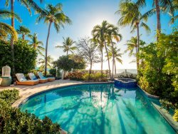 Luxury Oceanfront 2BDR villa at private Sunset Key Island