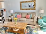 Living & Dining Areas with Beautiful Views of the Gulf