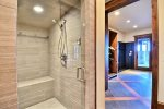 Ski Locker Room Bathroom with Steam Shower