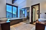 Master Bathroom with incredible jetted tub and views