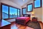 Upstairs bedroom with magnificent views