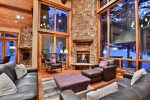 Upstairs Family Living room with fantastic mountain ridge top views