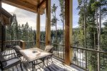 Enjoy the view of Lone Peak from the covered deck off of the kitchen