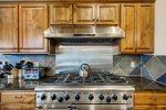 The new gas range boasts 8 burners and two ovens