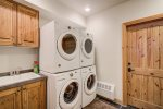 This ski-in ski-out home is the perfect place to spend your vacation in Big Sky
