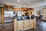 The large kitchen will delight the chef of your group