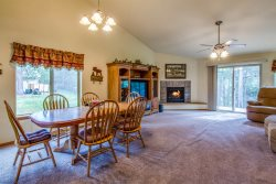 Ponderosa Cabin is known for it's peaceful backyard, great location and family friendly environment