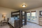 Light and bright office with direct access to back deck in master suite.