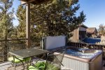 Relax in the hot tub after a day of horse back riding or hiking