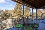 Outdoor seating to enjoy your morning coffee or relax in the Central Oregon sunshine