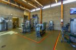 Full size fitness center with many machines