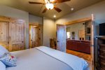Master bedroom with access to master bath.